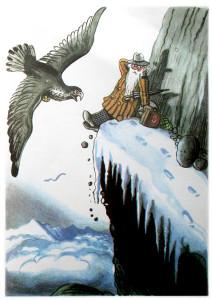 Доктор Айболит сидит на горе, а к нему летит орел