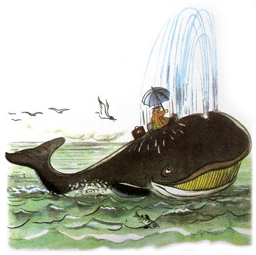 Доктор Айболит плывет на ките