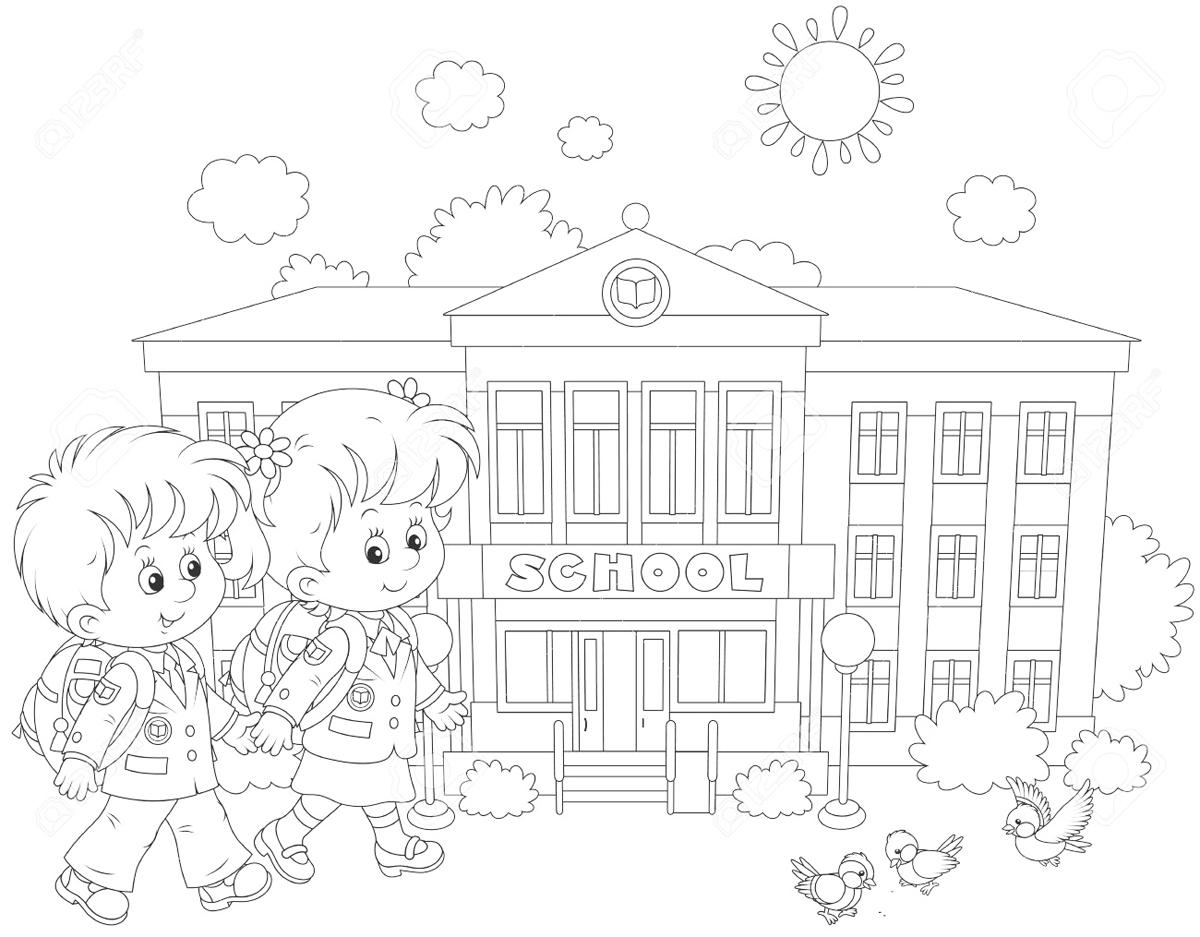 Раскраска школы