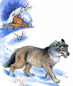Иллюстрация к стиху Дело было в январе, Барто