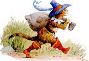 Кот  в сапогах рисунок