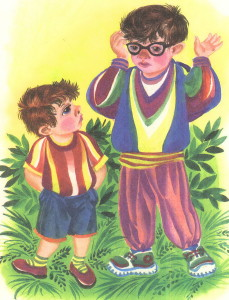 Два брата, один из них в очках