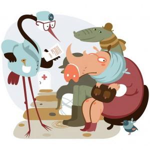 Рисунок к стиху Свинка. Сапгир