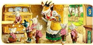 """Сказка """"Семеро козлят"""" иллюстрация"""