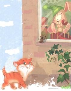 Зайка и кот