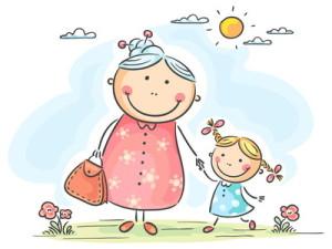 Бабушка, внучка, солнце, радость