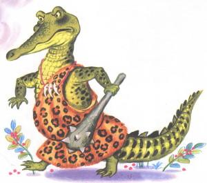 рисунок злого крокодила