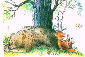 """Иллюстрация к стиху """"Медвежонок-невежа"""" Барто"""