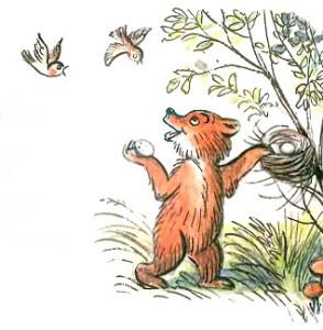 Иллюстрация Барто про медвежонка