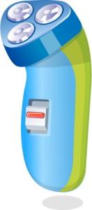 картинка сине-зеленой бритвы