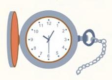карманные часы рисунок