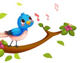 птичка с нотами