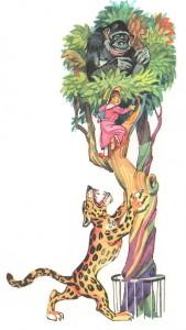Лялечка лезет на дерево