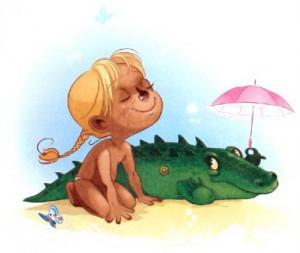 Девочка чумазая Барто иллюстрация