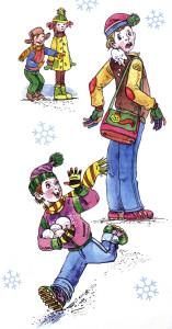 Барто, два снежка, иллюстрация