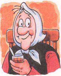 Федора пьет чай