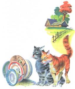 Коты не пускают тарелки