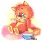 Грустный котик плачет над миской, Орлов