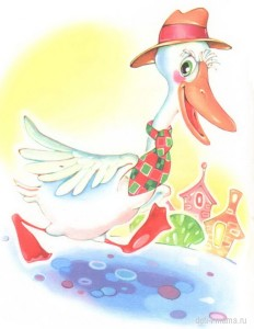 Картинка гуся для детей