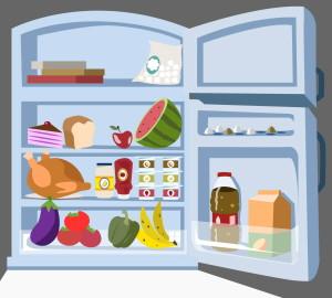 рисунок холодильника с продуктами питания