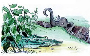 Крокодилы и слоны спрятались от таракана Чуковский