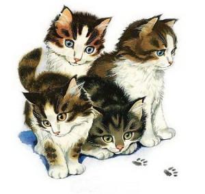 Рисунок котят