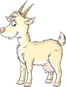рисунок козы веселой с улыбкой
