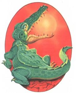 крокодил солнце проглатил