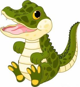крокодил маленький и зеленый