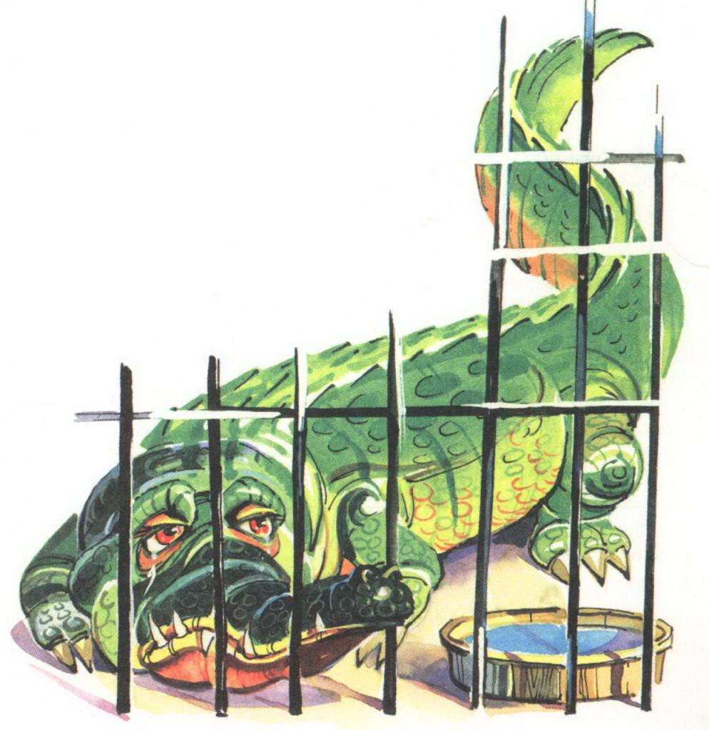 Чуковский крокодил в клетке