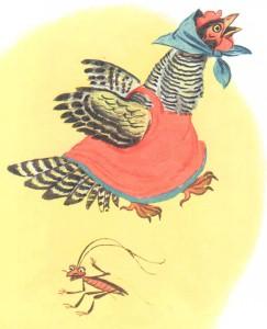 Курица убегает оттаракана