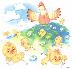 Картинка курицы наседки и цыплят