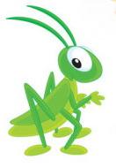 зеленый кузнечик иллюстрация для детей