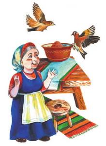 Иллюстрация к потешке Ладушки