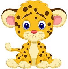 Леопард маленький с голубыми глазками