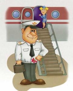 Картинка пилота возле самолета