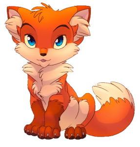 рыжая лисичка с пушистым хвостиком