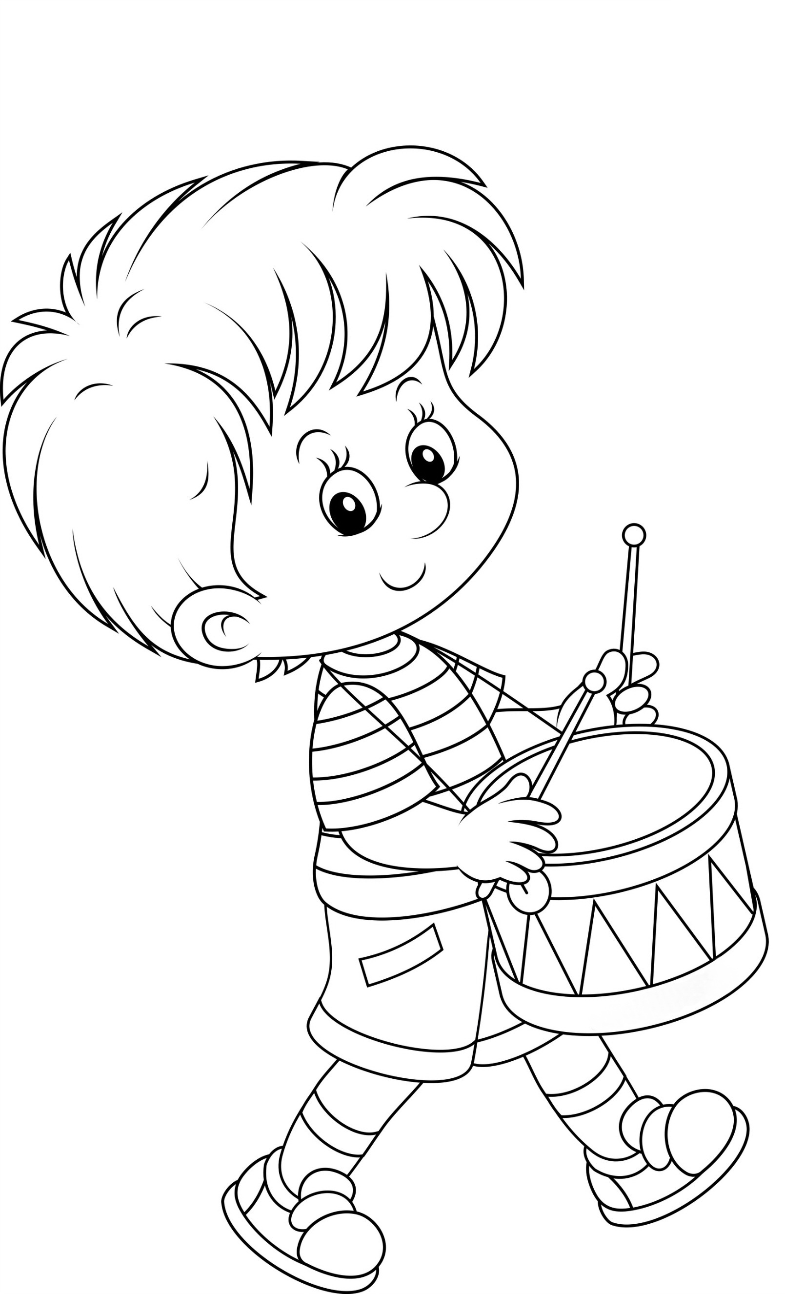 Мальчик с рюкзаком раскраски