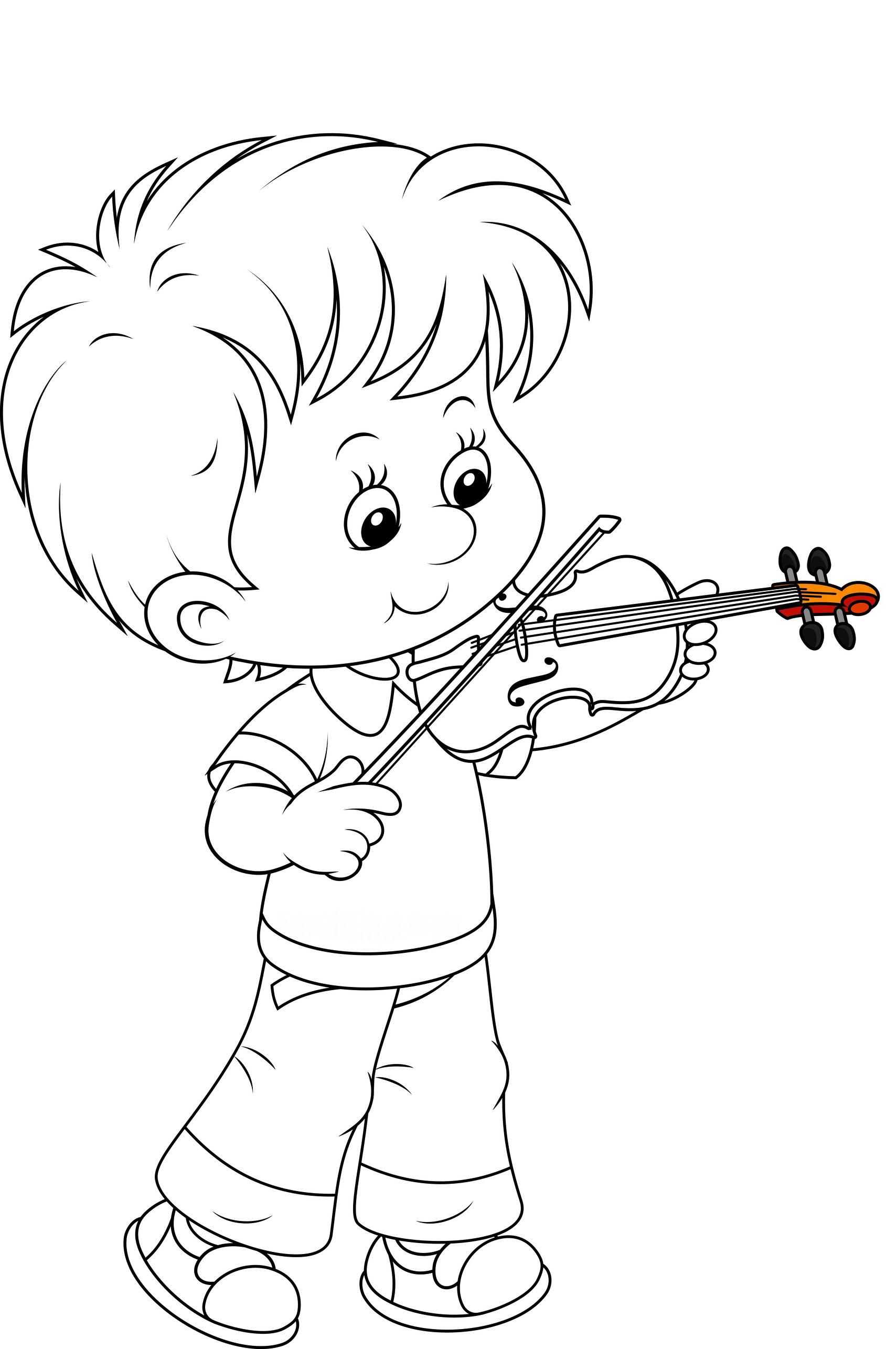 Картинка мальчика маленького раскраска