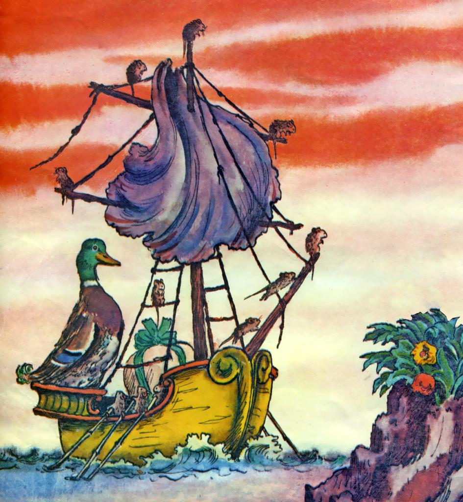 Иллюстрация Кораблик Маршак