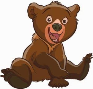 маленький забавный медвежонок