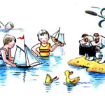 Дети играют в воде