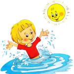 Мойдодыр мальчик моется в воде