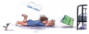 мойдодыр, книжка убежала под кровать