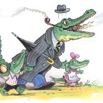рисунок крокодила сдетками