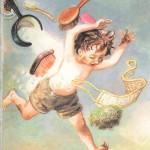 Мойдодыр, мальчик убегает от щетки и мочалки