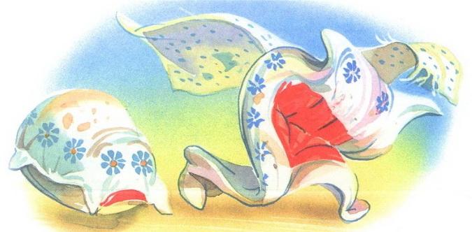 подушка и одеяло убегают мойдодыр