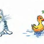 картинка котят, уточек