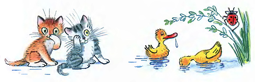мойдодыр умываются котята и утята