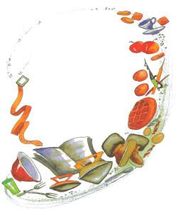Картинка книг, тапок, ремня и др. предметов